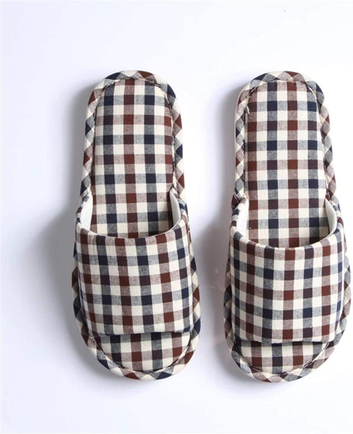 Comfortable Slipper Home Interior Non-slip Men's Casual Warm Slippers Brown bluee Soild color Personality Creativity Quality