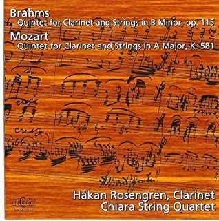 Johannes Brahms/Wolfgang Amadeus Mozart: Clarinet Quintets for clarinet and strings by SMS Classical