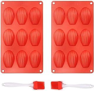 Queta Stampo per Torta in Silicone Scanalato Resistente Alle Alte Temperature, Confezione da 2 Stampi da Forno per Fare Ci...