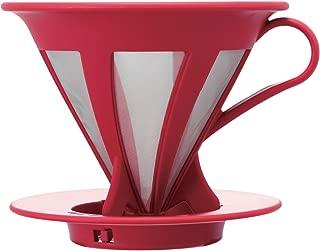 HARIO (ハリオ) コーヒードリッパー カフェオール コーヒードリップ 1~4杯用 レッド CFOD-02-R