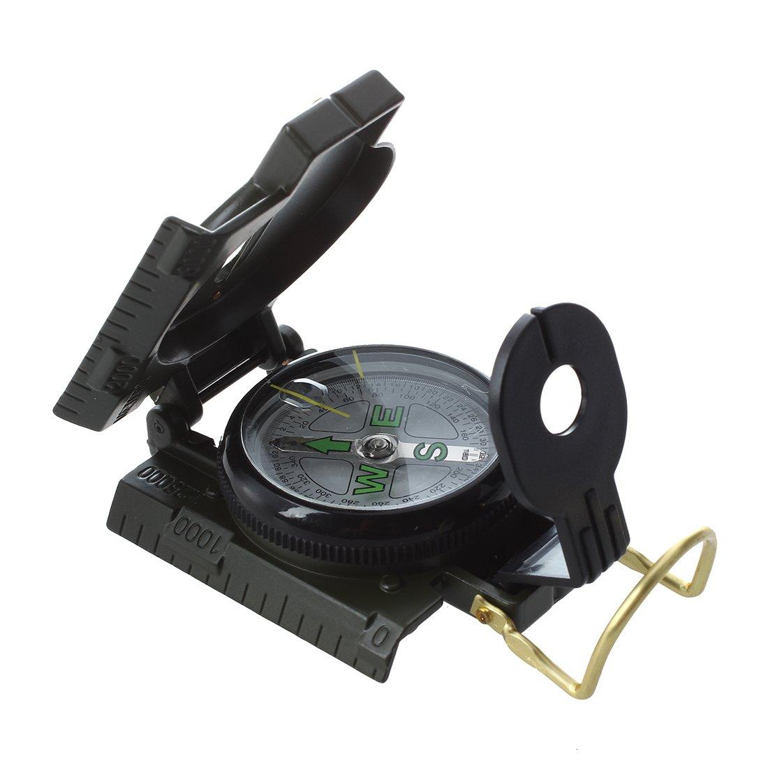 Bestlymood Brujula con Magnifier del Uso Militar Verde Ejercito: Amazon.es: Deportes y aire libre