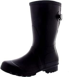 Womens Original Adjustable Back Short Wellington Rain Snow Festival Boot