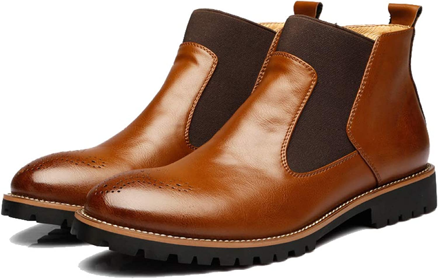 DSFGHE Mens Chelsea Boots Martin shoes Outdoors Warm Lining Skidproof Boots