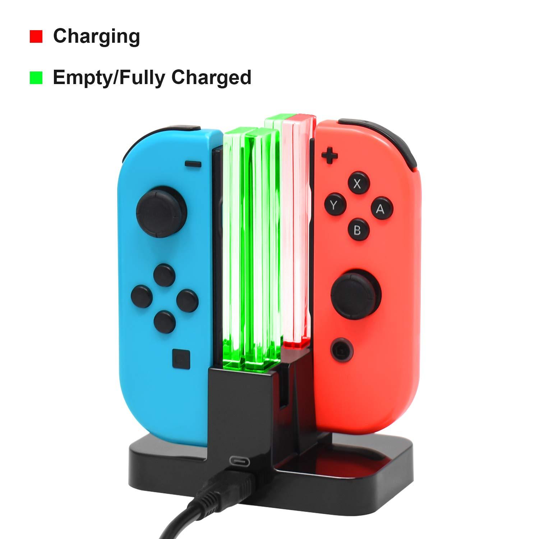 Base de carga para Nintendo Switch Joy-Con, estación de carga para ...