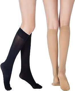 Women's Black (3 Pairs) Nude (3 Pairs) Luxury Soft Knee High Socks