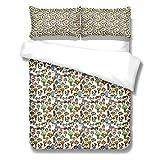 QNZOR Juego de Ropa de Cama de 3 Piezas para niños 260x230cm Funda nórdica con patrón Impreso en 3D Seta de Colores para decoración de dormitorios