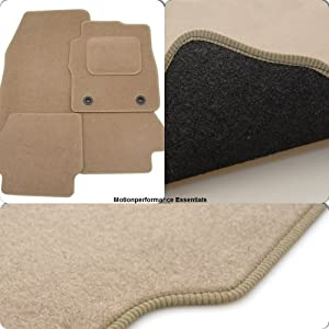 Custom Fit Tailor Made Beige Carpet Car Mats for Class  2005 Onwards  Double Drivers Side Protection Heel Pad
