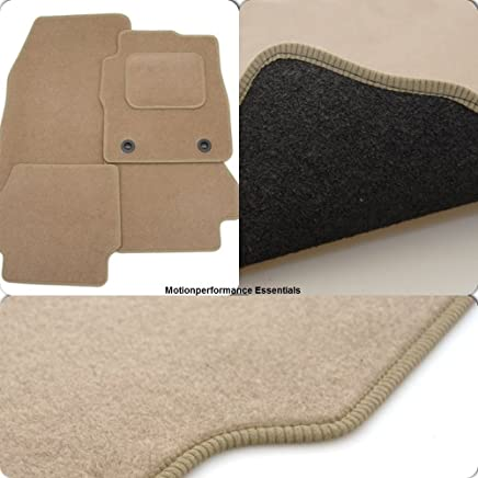 Custom Fit Tailor Made Beige Carpet Car Mats for Citroen 2nd Gen  2006 Onwards  Double Drivers Side Protection Heel Pad
