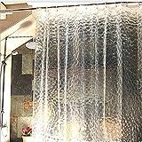 S-ZONE Eva Hohe Qualität 3D Wasserwürfel Effekt Wasserdicht Schwer Halbtransparente Duschvorhang Badezimmer Vorhang