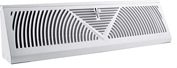 Accord ABBBWH15 Baseboard Register with Sunburst Design, 15-Inch(Duct Opening Measurement), White
