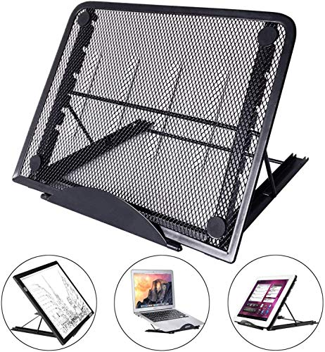 Large Version Adjustable Light Box Pad Stand, 12 Angle Points Skidding Prevented Holder for XP-Pen Artist Huion 12/13.3 Inches 15.6 Inches Drawing Monitor/Huion A2 A3 LED Tracing Light Board (Black)