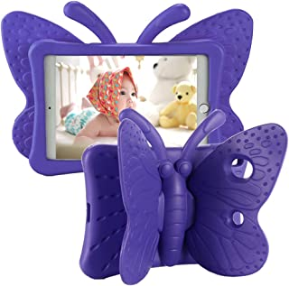 Tading iPad 10.2 Case 2020, iPad 7th Generation Case for Kids, Cute Butterfly Shockproof EVA Foam Super Protection Kid Pro...