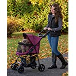 Pet Gear No-Zip Happy Trails Lite Pet Stroller for Cats/Dogs, Zipperless Entry, Easy Fold with Removable Liner, Storage Basket + Cup Holderr, Boysenberry 7