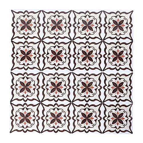 Angoily 72 Piezas de Mosaico de Azulejos Adhesivos Decorativos de Vinilo para Pared de PVC Azulejos Cuadrados Papel Pintado Autoadhesivo Extraíble Impermeable Etiqueta de La Pared para La