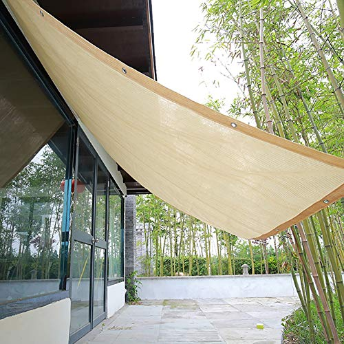 Shade Cloth Patio/Awning/Window Cover, HDPE 90% Sunblock Garden Netting Mesh, Beige Sun With Grommets For Pergola Or Gazebo (Size : 3Mx5M)