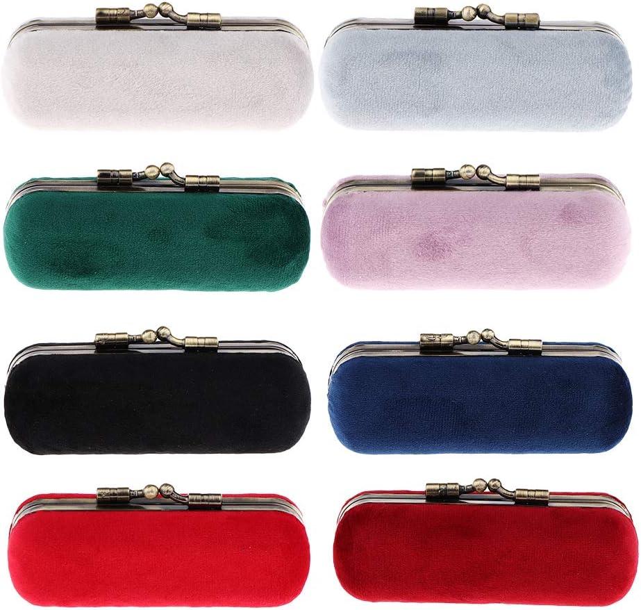 Azul Proteja Soporte Decorativo De L/ápiz Labial Con Caja De Regalo Forro De Terciopelo Estuche De L/ápiz Labial Con Espejo De Maquillaje Para Monedero