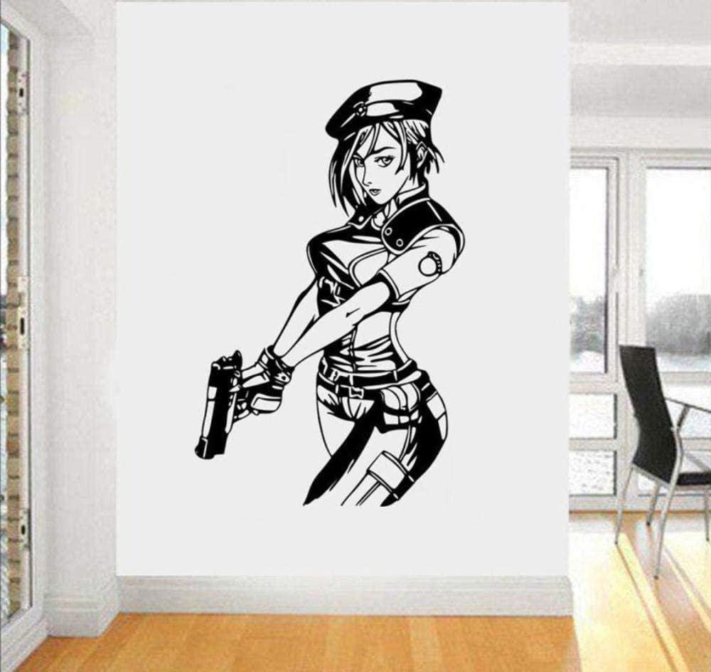 Pegatinas De Pared Beautiful Girl Bedroom Living Room Decorative Wall Removable Corridor Decoration Self Adhesive 58 X91cm