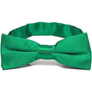 TieMart Boys Emerald Green Bow Tie