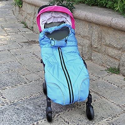 nuoyo–Saco de dormir para bebé calentador de invierno saco para silla de paseo para asiento de coche, Manta de arrullo caliente todo el cuerpo, resistente al agua de elefante patrón Extended, color azul