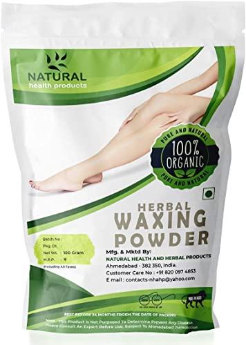 Natural Health Products Herbal Waxing Powder Instant Hair Remover 100 G