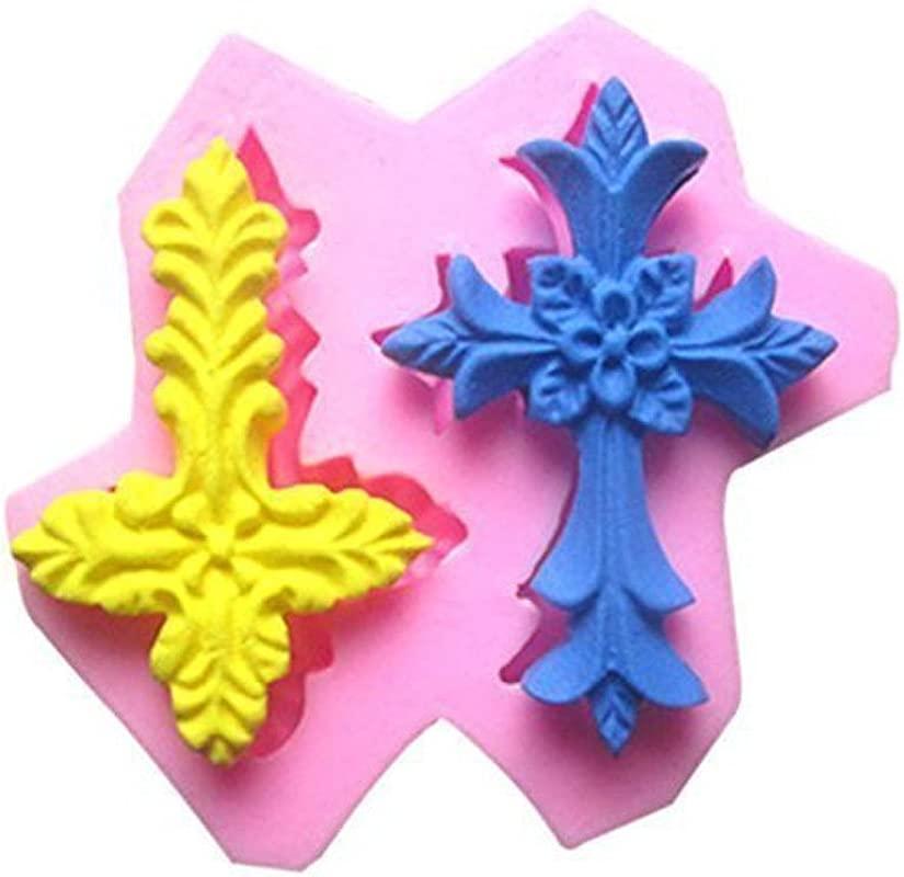 Efivs Arts EA266 2 Cross Candy Fondant Silicone Molds Sugarcraft Chocolate Mold Cake Cupcake Decorating No Stick