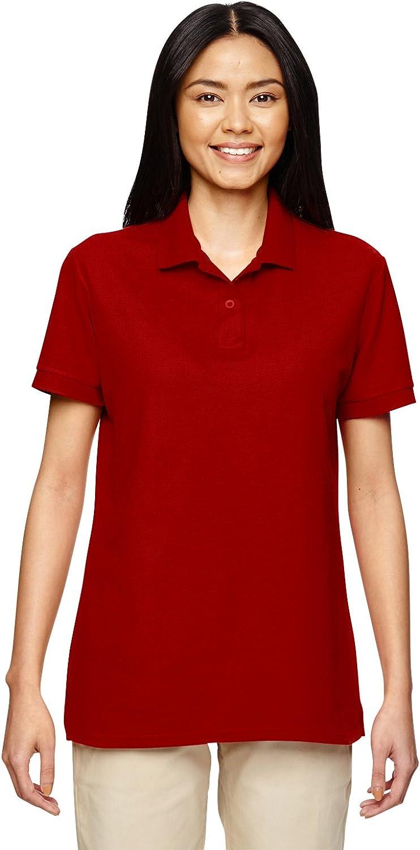 Gildan womens DryBlend 6.3 oz. Double Pique Sport Shirt(G728L)-RED-3XL