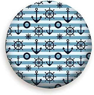 AndrewTop Anchor Steering Wheel Abstract Miscellaneous Cover with Elastic Hem-Durable Design Keeps Dirt, Rain, and Sun Away from Your Spare Tire