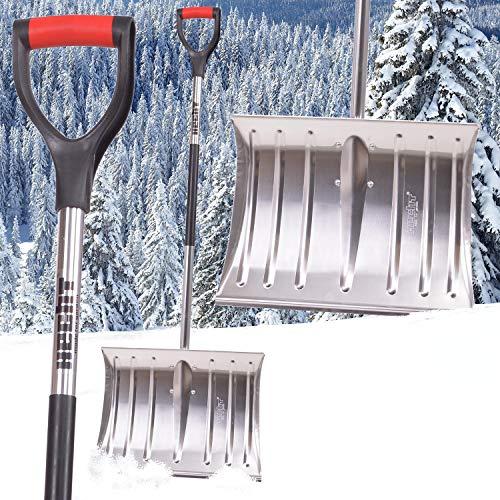 Hecht 465 AL Schneeschaufel mit 46 cm Räumbreite Schneeräumer Schneeschieber mit Aluminiumschild und D-Shaped Griff - 5