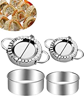 Ravioli Maker et Moulle , 4 PièCes Acier Inoxydable Kit Ustensiles Raviolis,Ustensiles de Cuisine, Outils de PâTisserie