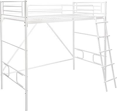 Amazonベーシック ロフトベッド はしご付き シングル 2段階 メタル アイボリー