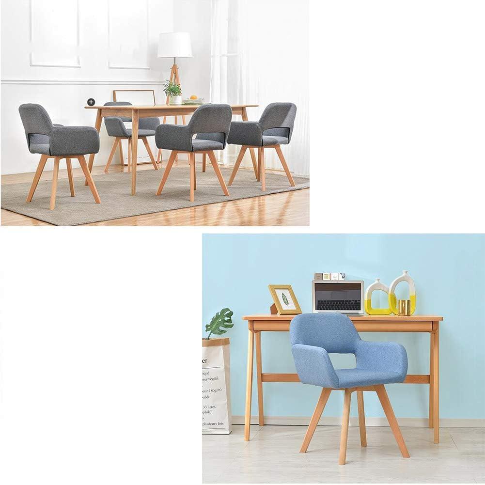 WFF Chaise de Bureau Chaise Simple Simplicité Moderne Assemblage Facile Conception Creuse Jambes en Bois Massif Etude de Dossier (Color : B) H