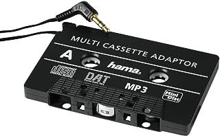 Hama KFZ Kassettenadapter, Tape mit 3,5 mm Klinkenstecker für Smartphones, MP3 Player/CD /MD Player, iPods, schwarz