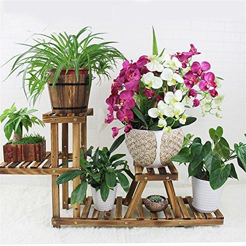 Plante Stand de fleur en bois Pot de fleur étagère Solid Wood Accueil fleur étagère Européenne Intérieur Balcon Bonsaï Shelf Fish Rack Accessoires