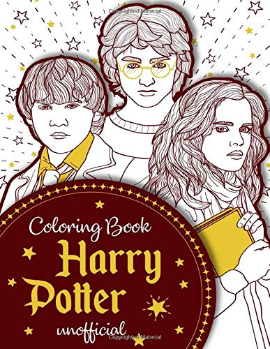 Harry Potter Coloring Book: Coloring Book For Kids and Adults
