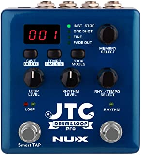 NUX JTC PRO Drum Loop PRO Dual Switch Looper Pedal 6 hours recording time 24-bit and 44.1 kHz sample rate