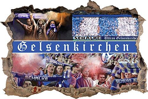 Ultras Gelsenkirchen, 3D Wandsticker Format: 92x62cm, Wanddekoration