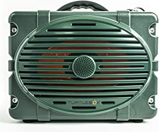 Turtlebox: LOUD! Outdoor Rugged Bluetooth Speaker ~ 50+ Hour Charge | IP67 Waterproof & Dustproof. Plays up to 120db. Pair 2x for True Stereo | Made for Hunting, Fishing, Sports, Camping, Boating, ATV