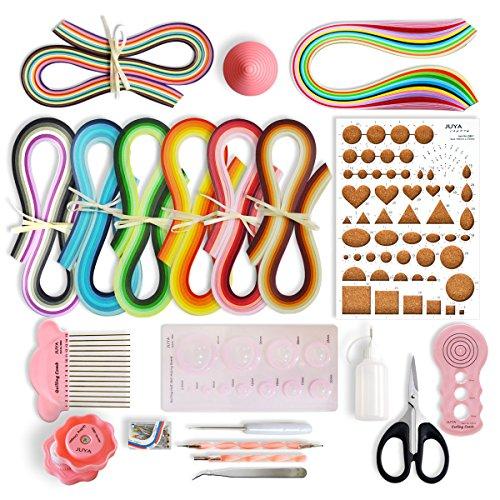 JUYA Papier Quilling-Kits mit 960 Strips und 13 Werkzeuge Rosa Werkzeuge, Papierbreite 3mm
