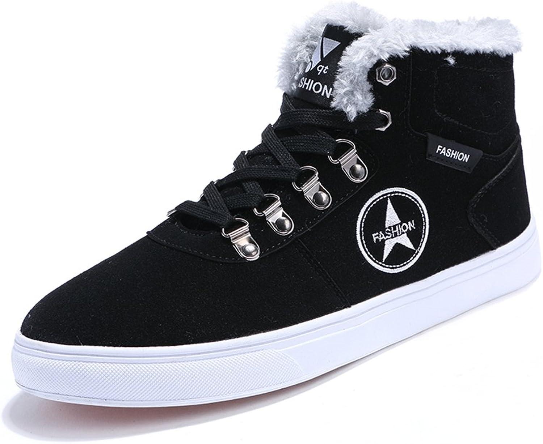 Men's shoes Feifei High Help Winter Fashion Plate shoes 3 colors (color   Black, Size   EU39 UK6.5 CN40)