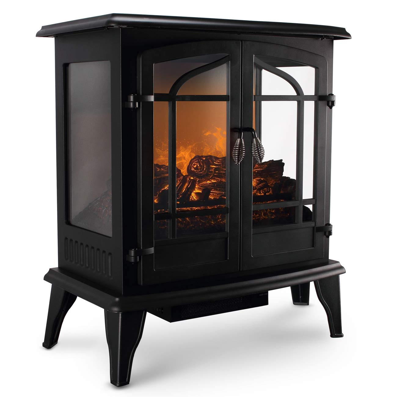 Vintage Electric Fireplace 27 Inch Freestanding