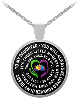 Father and Daughter Necklace - Always Beloved - Inspiration - Love Dad