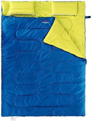 Prougeection Contre Le Froid Double Sac de Couchage en intérieur Garder au Chaud épaissir Le Terrain Camping extérieur pour Adultes en Plein air, Bleu