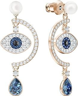 Womens Duo Evil Eye Pierced Earrings Dark Multi One Size