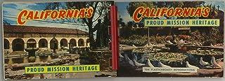 California Proud Mission Heritage - Miniature Souvenir Postcard Photo Album - Plastic Comb
