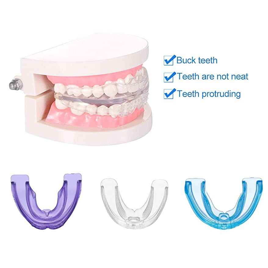 地下室エンジントランスミッション歯の矫正、歯並びの固位器 直歯システム 使いやすい 紫