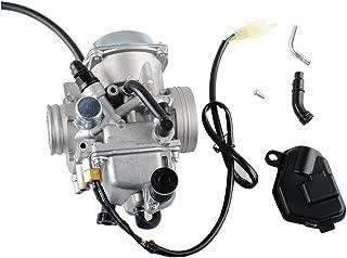 TRX350 Carburetor for Honda 350 Rancher 2000-2006 FE/FM/TE/TM/ES Atv 4 Stroke Carburetor with Black Throttle Base Cover by Wadoy