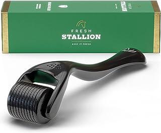 Beard Roller Derma Roller 0.25mm - 540 Microneedle Face Roll Microdermabrasion Tool - Microneedling Titanium Micro Needles...