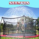 SEETOYS Trampoline Sprinklers for Kids (50ft) ,Outdoor Trampoline Spray Waterpark Fun Summer Water Game Toys,Boys Girls Fun Summer Outdoor Water Game Sprinkler Accessories,Party Birthday Gifts.