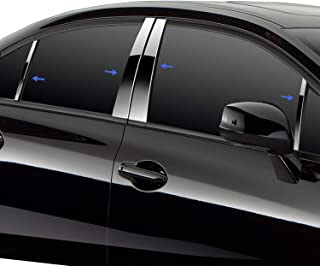 Made in USA! Works with 2011-2014 Chrysler 200 8PC Stainless Steel Chrome Pillar Post Trim