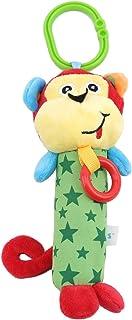 Bigsweety 漫画動物乳母車ぶら下げおもちゃぬいぐるみベビーカーベビーカーガラガラ面白い猿ハンドベルおもちゃ